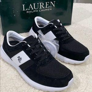 New: Ralph Lauren Jay Black & White Sneakers